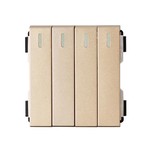 维能 A80 四位大跷板双控开关功能件