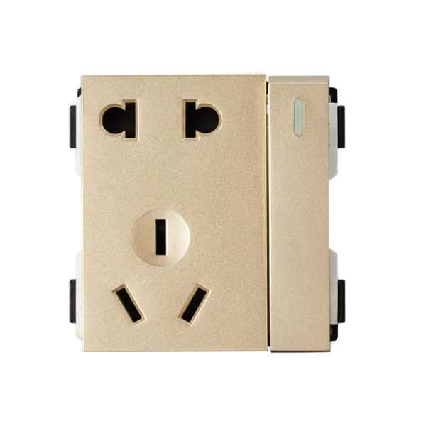 维能 A80 一位单控开关二三极插座功能件