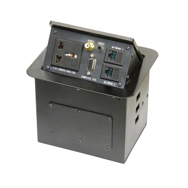 维能 桌面插 气杆式桌面插HZM-301经典款 一位三插多功能+一位视频+一位耳机+一位VGA+二位电脑 已完成