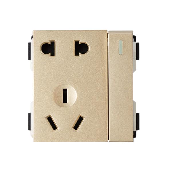 维能 A9 一位双控开关二三极插座功能件