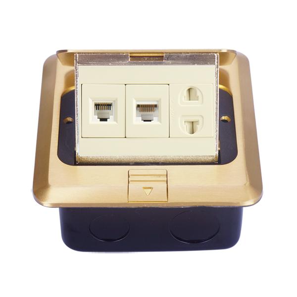 全铜电话电脑+二插弹起式地插