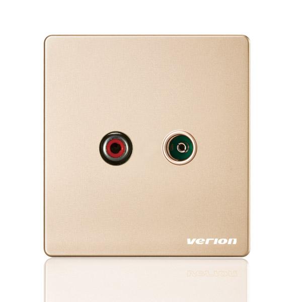 A66金 AV+电视插座