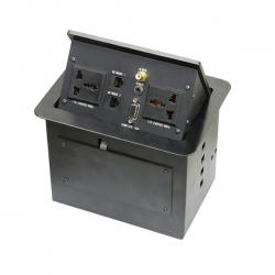 维能 桌面插 气杆式桌面插 HZM-401 二位多功能+二位电脑+一位视频+一位耳机+一位VGA 已完成