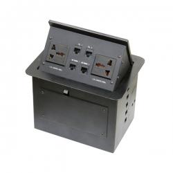 维能 桌面插 气杆式桌面插 HZM-404 二位三插多功能+二位电脑+二位电话 已完成
