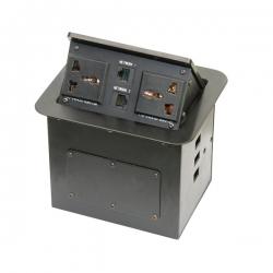维能 桌面插 气杆式桌面插HZM-304 二位三插多功能+二位电脑 已完成